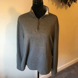 Banana Republic gray knit top. Size Lg